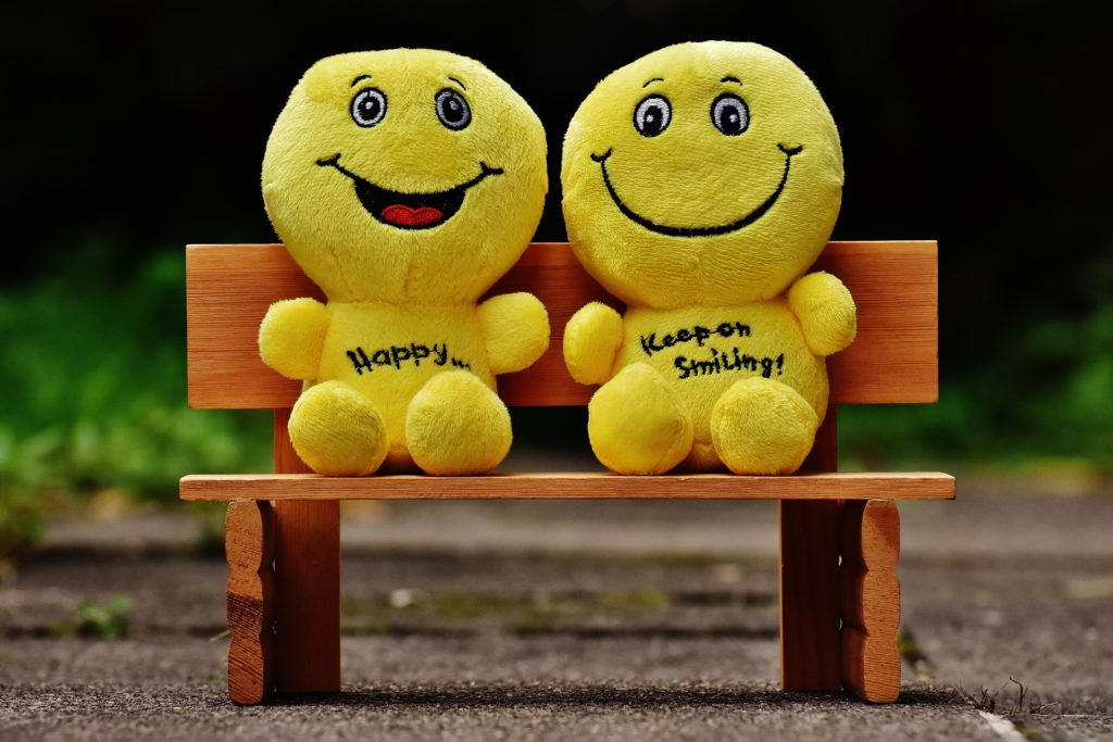 TruBirth Smilies on a Park Bench